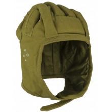 Шлем ВДВ прыжковый защитного цвета с ребрами жесткости