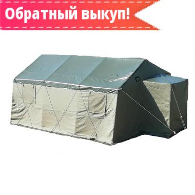 Армейская брезентовая палатка Гарнизон-10 с производства