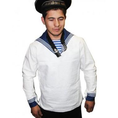 Рубаха матросская белого цвета